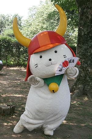 彦根城天守前広場登場の「ひこにゃん」