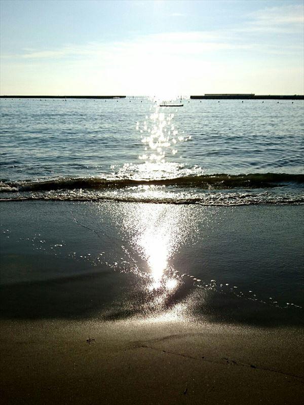 開放感あふれる海!